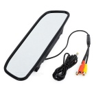 "4.3"" TFT LCD Universal Car Rearview Mirror - Black + Multicolor"