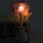 Lilac Style Light Control 3-LED Night Light Warm White - Pink + White