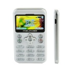 "MELROSE VI 1.7"" TFT LCD GSM telefoon w / Bluetooth, FM, 0.3MP Camera, TF-sleuf, voicerecorder - wit"