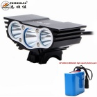 ZHISHUNJIA X3 XM-L T6 LED Bike Light Headlight White 4-Mode 2800lm - Black  (10 x 18650)