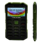 "MELROSE S2 1.7"" TFT LCD GSM Bar Phone w/ Bluetooth, MP3, FM, TF Slot, 0.3MP - Black + Army Green"