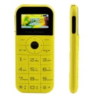 "MELROSE C1 1.77"" LCD GSM Phone w/ Bluetooth, MP3, FM, 2800mAh Power Bank - Yellow"