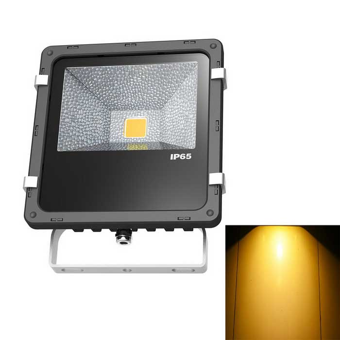 JIAWEN Waterproof 20W LED Floodlight Warm White 3200K 2200lm - Black