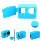 PANNOVO Protective Silicone Case w/ Back Cover + Silicone Lens Case Cap for GoPro Hero 4 / 3+ / 3
