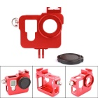PANNOVO CNC Aluminum Alloy Camera Protective Case Holder for GoPro Hero 3 / 3+ / 4 - Red