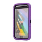 Anti-Dust Drop-Protection Protective TPU Ring Holder Full Body Case for Samsung Galaxy S6 - Purple