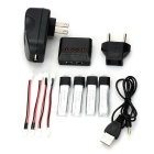 X4A-C01 Balance Charger + Batteries + More Set for V911 etc. - Black
