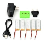 X5A-A07 batteries 450mAh + chargeur + adaptateur + ensemble plus - multicolore