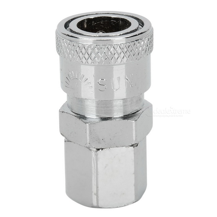 Pneumatic Quick Coupler Joint Air Compressor Joint - Silver