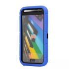 Anti-Dust Drop-Protection Protective TPU Ring Holder Full Body Case for Samsung Galaxy S6 - Blue