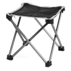 Ultra Light Aluminum Alloy Outdoor Folding Stool Chair - Black (M)