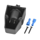 Water Resistant Cigarette Lighter Socket for Car & Motorcycle - Black
