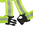 Salzmann Cycling Elastic Reflective Safety Harness Belt Vest - Yellow