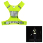 Salzmann Outdoor Cycling Jogging Reflective Safety Halter Vest - Fluorescent Yellow (L)
