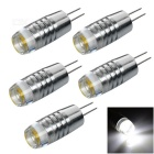 G4 1W COB LED Car Reading Lamps Cool White 8431K 60lm - Silver (12~20V / 5 PCS)