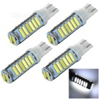 T10 1.5W Car LED Bulbs Cool White 10000K 92lm SMD 7020 - White + Yellow (DC 12V / 4 PCS)