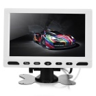 "6.9"" TFT LCD Two AV Video Input Car Monitor w/ USB 2.0 / SD - Black + White (1 x CR2025)"