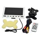 "6.9"" TFT 2 AV Input Car Monitor w/ USB / SD - Black + White (1*CR2025)"
