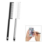 New Universal Phone Touch Pen w/ Comb - Black + Silver (2PCS)