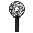 Mini Smile Portable Mini USB 2.0 Wireless 6-Blade Desktop Fan - Black (1 x 18650)