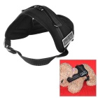 Nylon Chest Belt for Large Pet Dog - Black (M)