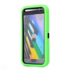 Anti-Dust Drop-Protection Protective TPU Ring Holder Full Body Case for Samsung Galaxy S6 - Green