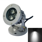JIAWEN Waterproof 9W 3-LED Spotlight White Light 6500K 810lm - Grey