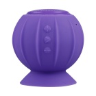 Pumpkin Style Suction Cup Mount Mini Bluetooth v2.1 Speaker w/ Handsfree / Micro USB - Purple