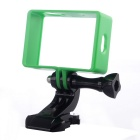 Protective Camera Frame Holder + J-Shaped Base + Long Screw for Xiaomi Xiaoyi - Black + Green