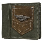 Stylish PU Fold-up Wallet w/ Pocket for Men - Brown