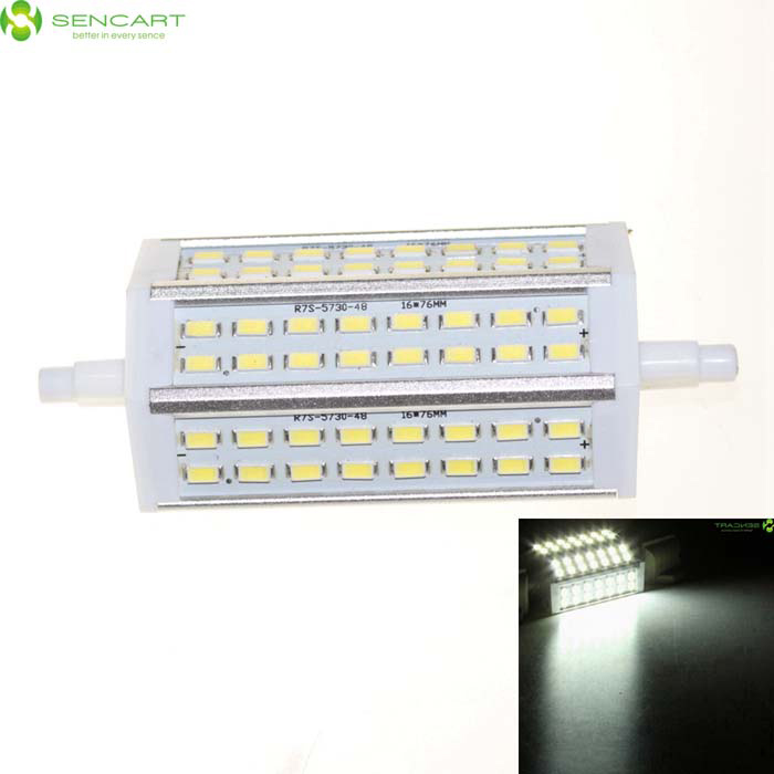 SENCART R7S 15W LED Flood Light Bulb Lamp Cold White 1200lm 48-SMDForm  ColorWhite + GreyColor BINCool White (15W)MaterialPCB + aluminium alloyQuantity1 DX.PCM.Model.AttributeModel.UnitPowerOthers,15WRated VoltageAC 85-265 DX.PCM.Model.AttributeModel.UnitConnector TypeOthers,R7SChip Type5730Emitter TypeOthers,5730 SMD LEDTotal Emitters48Theoretical Lumens1500 DX.PCM.Model.AttributeModel.UnitActual Lumens1200 DX.PCM.Model.AttributeModel.UnitColor Temperature6000KDimmableNoBeam Angle120 DX.PCM.Model.AttributeModel.UnitCertificationCE, RoHSPacking List1 x Lamp<br>
