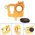PANNOVO CNC Aluminum Alloy Camera Protective Case Holder for GoPro Hero 3 / 3+ / 4 - Golden