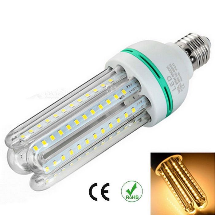 E27 20W lámpara de maíz de 4xU-shaped 96-LED caliente blanco 3000Km 2000lm SMD 2835