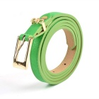 Women's Fashionable PU Leather Belt w/ Buckle - Green