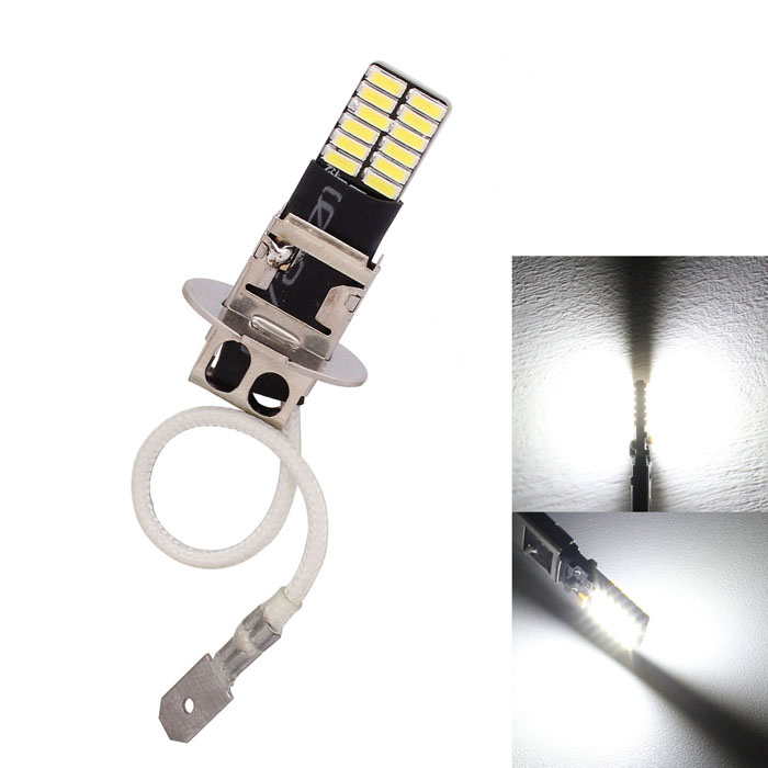 MZ H3 4.8W White SMD LED 6500K Error-Free Canbus Car Front Fog Lamp