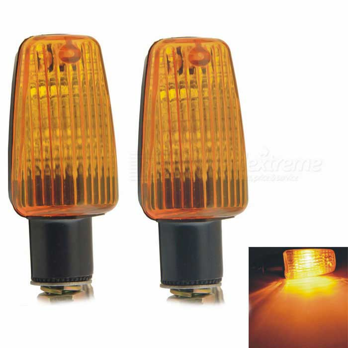CARKING Yellow LED Motorcycle Turn Signal Indicator Light (2PCS)