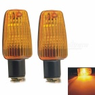 CARKING Plastic Shell LED Motorcycle Turn Signal Indicator Lights Yellow 560nm 150lm (12V / 2 PCS)