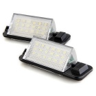 18-SMD LED DC 12V License Plate Light for BMW E36 (1992~1998) - 2PCS