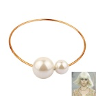 Women's Fashion Two Big Imitation Pearls Pendant Necklace