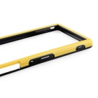 Durable Ultra-thin TPU Bumper Frame for Sony Z3 - Yellow + Black