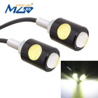 MZ 16mm 6W 2-COB LED Eagle Eyes Car Daytime Running Light / Fog Lamp White Light 250lm (12V / Pair)