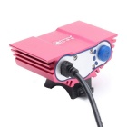 ZHISHUNJIA X3 T6 3-LED 4-Mode White Bike Light Headlight - Deep Pink