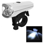 Leadbike USB Rechargeable Water Resistant 1-LED 2-Mode Cool White Bike Light Headlight Headlamp