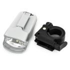 Leadbike Rechargeable 1-LED 2-Mode Cold White Bike Light- Silver