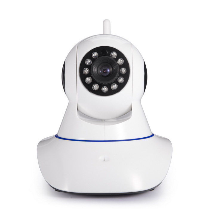 ANNKE HD CMOS Wireless Wi-Fi Pan & Tilt CCTV Camera w/h Two-way Audio / 11-IR LED - White + Black