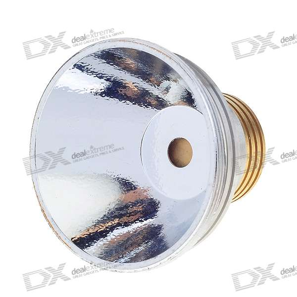 Aluminum Textured/OP Reflector with Copper Heatsink Base for Cree MC-E LED Emitters (52.15*27.15mm)