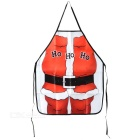 Creative Santa Claus Style Dacron Kitchen Cooking Apron - White + Red