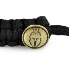 FURA Outdoor Survival Emergency Parachute Cord Rope Bracelet - Black