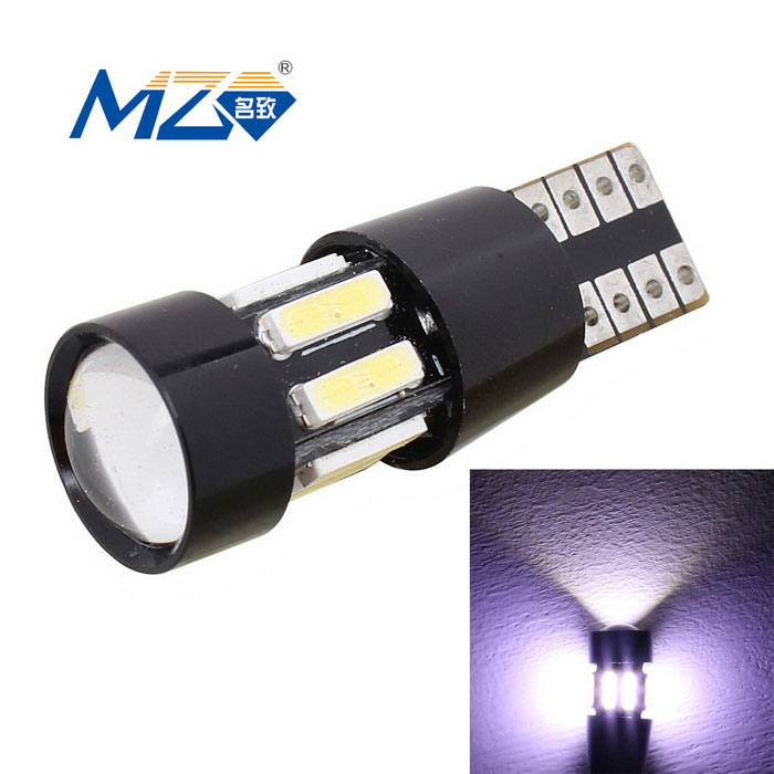 MZ T10 5W Decode LED Car Clearance Lamp White 10-SMD 400lm - Black