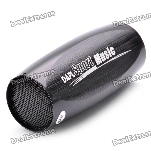 USB Rechargeable Bicycle MP3 Player Speaker Set with FM Radio - Black (2GB)